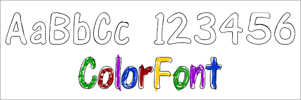 ColorFont Outline Coloring Teaching Font