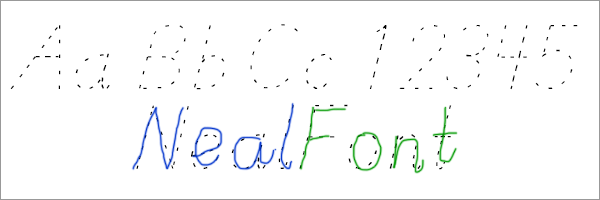 NealFont Pre-cursive Style Tracing Font